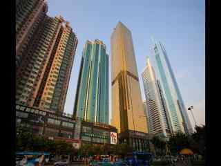 广州街道高楼风景