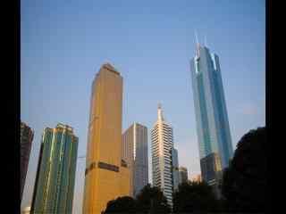 广州高楼城市近景