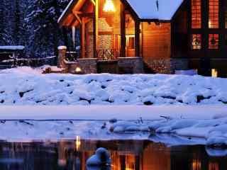 唯美雪景桌面壁纸高清下载:雪地温馨
