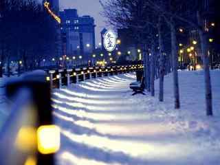 唯美雪景桌面壁纸高清下载:冬至了呢……