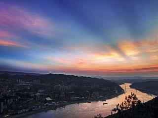 重庆涪陵美景桌面