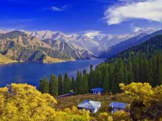 新疆天山天池风景桌面壁纸 第四辑 苦痛