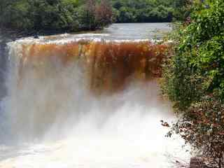 黑龙江吊水楼瀑布桌面壁纸 第六辑 从容的淡定