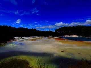 新西兰香槟池美景桌面壁纸 第十辑 寂寞安