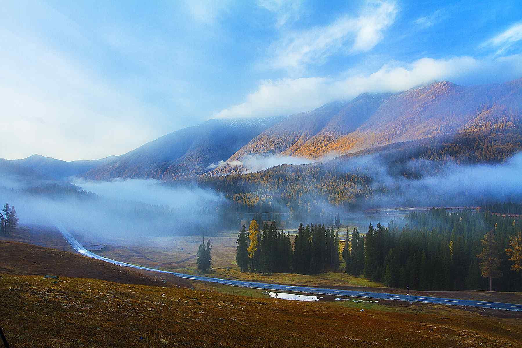 山水长卷人间净土 新疆喀纳斯风景壁纸第五辑