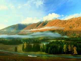 所谓伊人似水如静 新疆喀纳斯风景壁纸第二辑
