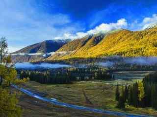 湖光山色相映成辉 新疆喀纳斯风景壁纸第四辑