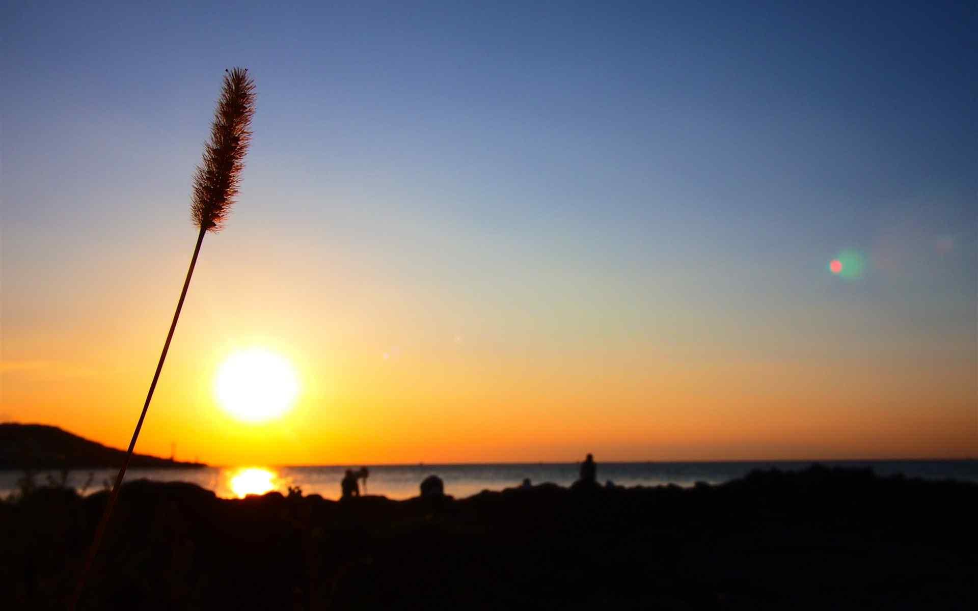 韩国济州岛夕阳西下桌面壁纸