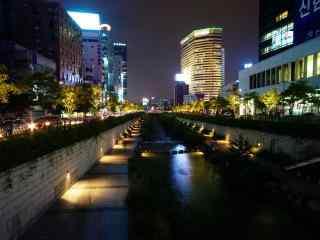 韩国的浪漫夜晚桌面壁纸第一辑