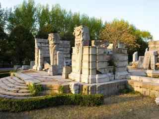 北京风景之圆明园遗址公园主题桌面壁纸