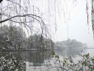 杭州最美西湖十景之断桥残雪风景壁纸