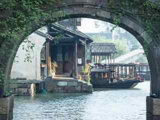 中国五大文艺之都乌镇的石拱桥