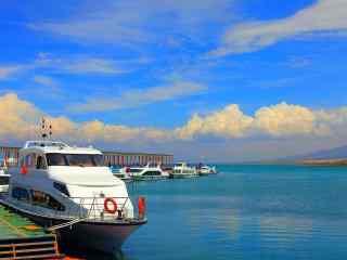 青海湖美景桌面壁