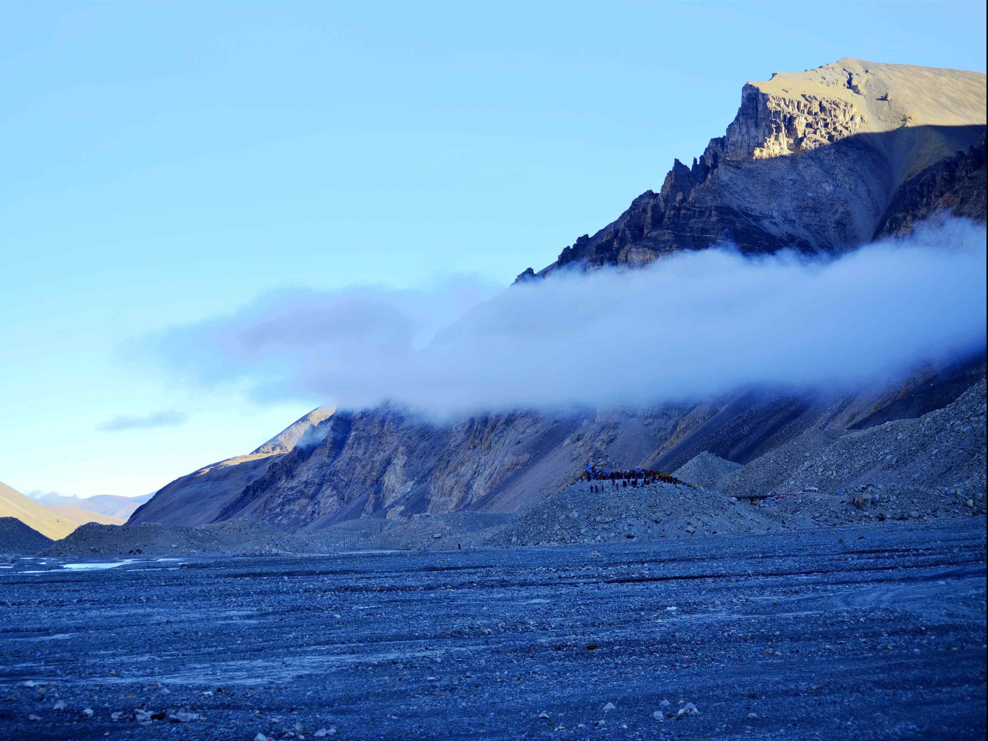 壮观珠穆朗玛峰高海拔自然风景图片桌面壁纸