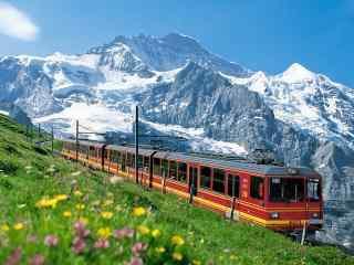 绝美的火车之旅图片桌面壁纸2