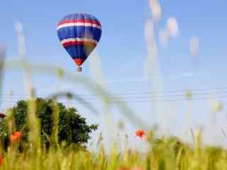 清新唯美彩色热气球风景桌面壁纸5张
