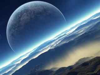神奇美丽的蓝色梦幻星球电脑桌面壁纸
