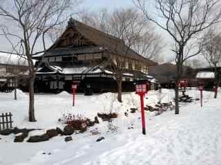 雪国北海道唯美雪景桌面壁纸2