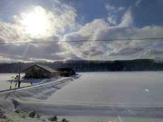雪国北海道唯美雪景桌面壁纸12