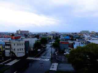 函馆干净整洁的日本街道北海道风光桌面壁纸