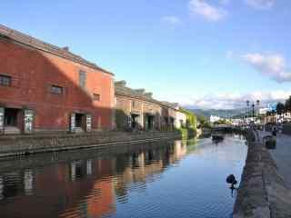 小樽运河北海道风光桌面壁纸2