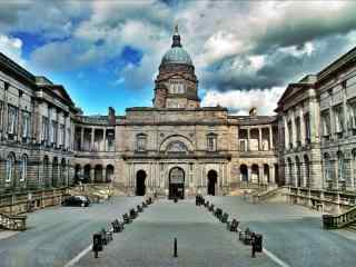 苏格兰爱丁堡大学风景图片桌面壁纸