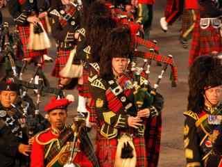 苏格兰爱丁堡传统文化节艺术表演高清壁纸