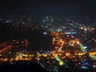 函馆百万夜景北海道风光桌面壁纸3