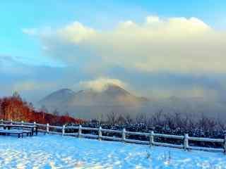 雪国北海道唯美雪景桌面壁纸5