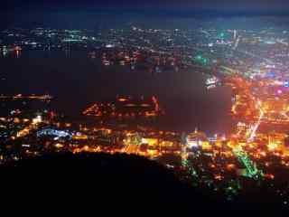 函馆百万夜景北海道风光桌面壁纸2