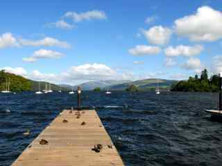 苏格兰爱丁堡城市风景海岸码头图片高清桌面壁纸