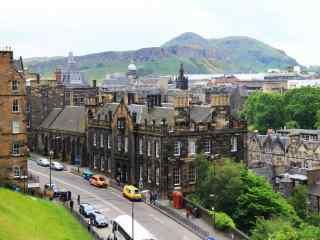 苏格兰爱丁堡城市街景风景图片高清桌面壁纸