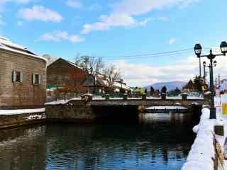 雪国北海道唯美雪景桌面壁纸3