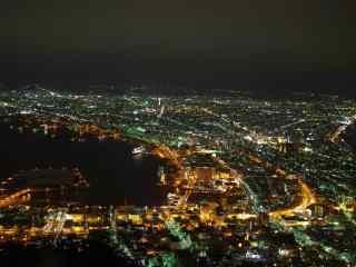 函馆百万夜景北海道风光桌面壁纸8
