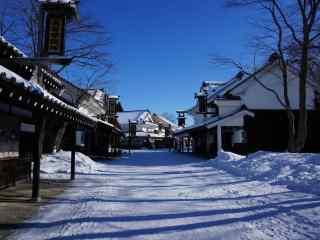 雪国北海道唯美雪景桌面壁纸6