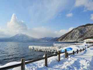 雪国北海道唯美雪景桌面壁纸7