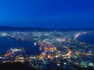 函馆百万夜景北海道风光桌面壁纸4