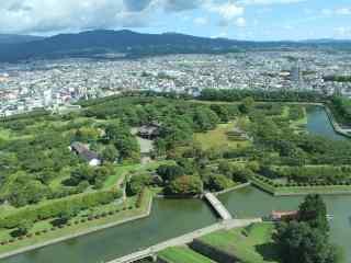 函馆花园俯瞰北海道风光桌面壁纸