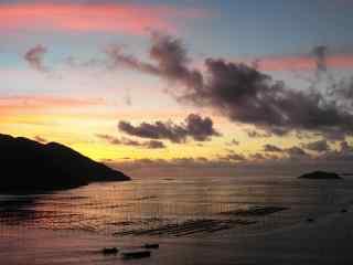 最美的滩涂霞浦海上日出风光桌面壁纸