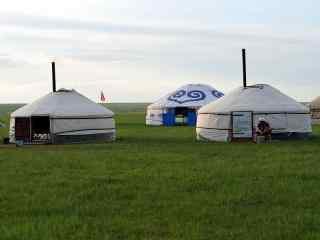 草原牧民蒙古包高