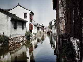 江南水乡之青砖粉黛的美丽周庄风景壁纸