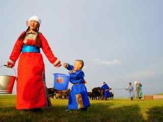 内蒙古游牧民族传统牧民高清图片壁纸