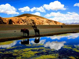 神秘美丽的尼泊尔自然风景高清电脑壁纸