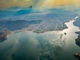 高拍尼泊尔湖泊自然风景高清电脑壁纸