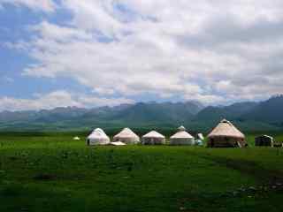 特色草原蒙古包高清电脑壁纸