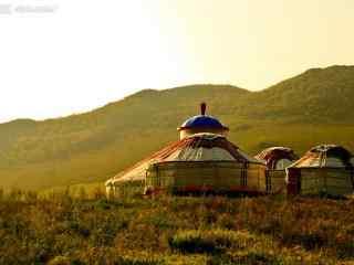 内蒙古大草原蒙古包高清图片壁纸