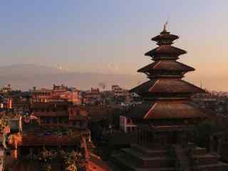 尼泊尔宗庙建筑高清风景壁纸