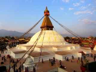 尼泊尔宗庙人文建筑高清风景壁纸
