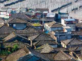 福建霞浦美丽的村庄摄影桌面壁纸