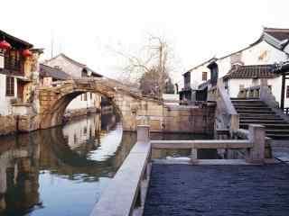 苏州周庄景点之双桥风景壁纸